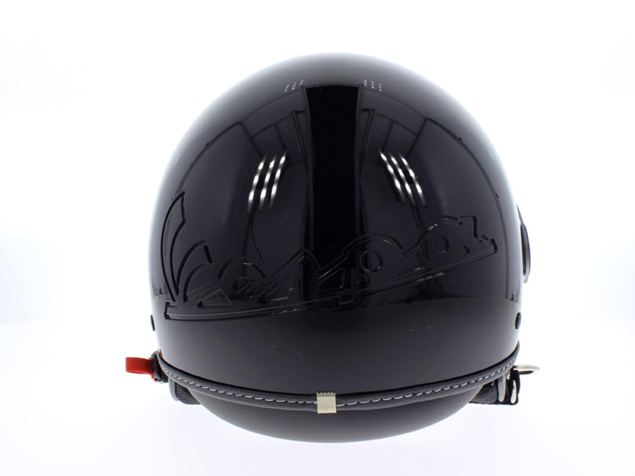 Helm VESPA Visor 2 schwarz glänzend M 57-58cm Halbschale Motorrad Roller Scooter