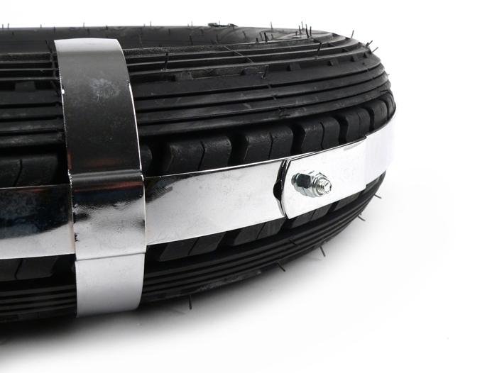 Roue de secours support devant AMS Cuppini in Line vespa 125 150ccm modèles avec 8 pouces