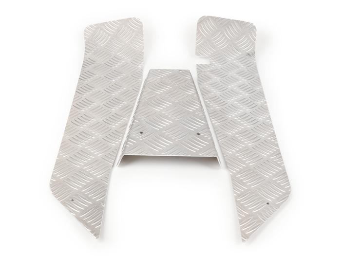 Riffelblech Alu Vespa PK S XL 1 2 anstelle Trittleisten satz oder Gummimatte