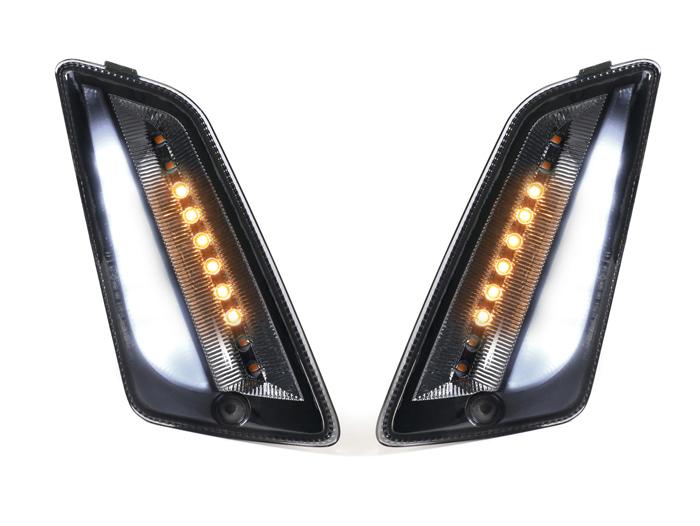 für Vespa GTS LED Lauflicht E-Prüfz Blinker-Set smoked hinten MOTO NOSTRA 2019