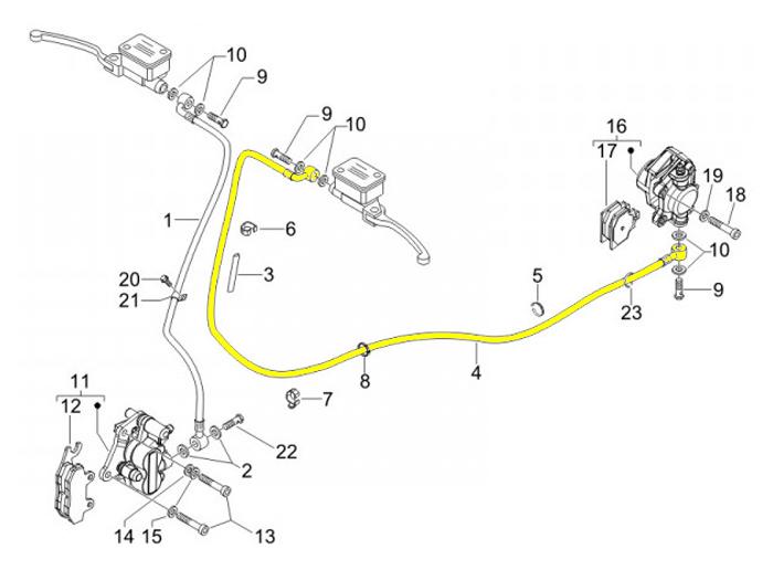 Bremsleitung hinten PIAGGIO Vespa GT 125 GT 200 GT L 125
